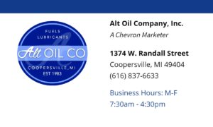 Alt Oil Company, Cooperville's premium oil and lubricants distributor!