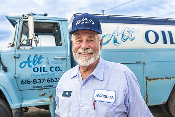 Alt Oil Company Founder Ed Alt has built this family-owned company on great pride and exceptional customer service!