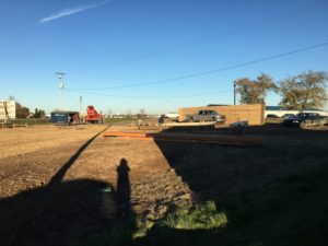 Construction begins on the new building at Alt Oil Company in Coopersville, MI
