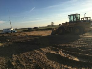 Ground work continues for Alt Oil Company's new building at Coopersville, MI location