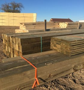 The lumber has arrived and the framing has begun!