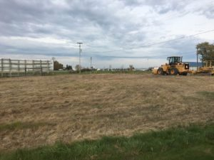 Site prep work is beginning for the new building at Alt Oil Company in Coopersville, MI.