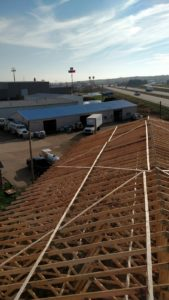 The trusses have been installed and secured on Alt Oil's new building in Coopersville, MI.